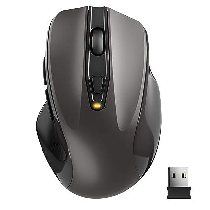 TedGem Kabellose Maus, Wireless Maus 2.4G Funkmaus, Tragbar mit USB-Nano-Empfänger, 6 Tasten, 5 einstellbare DPI 2400/2000/16