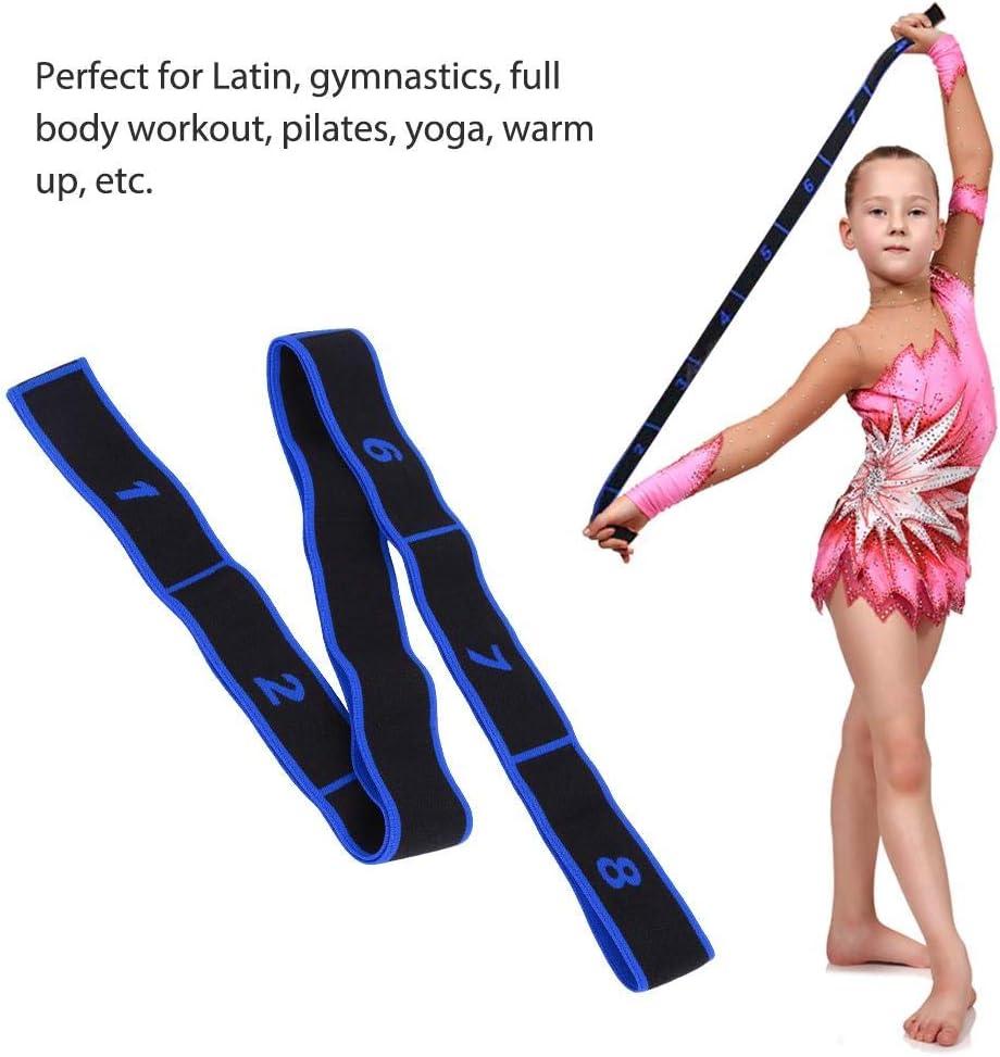 Bleu Acrylique Bande de r/ésistance de Yoga Danse Latine Ceinture /élastique Qui s/étend Keenso Bande de r/ésistance de Yoga