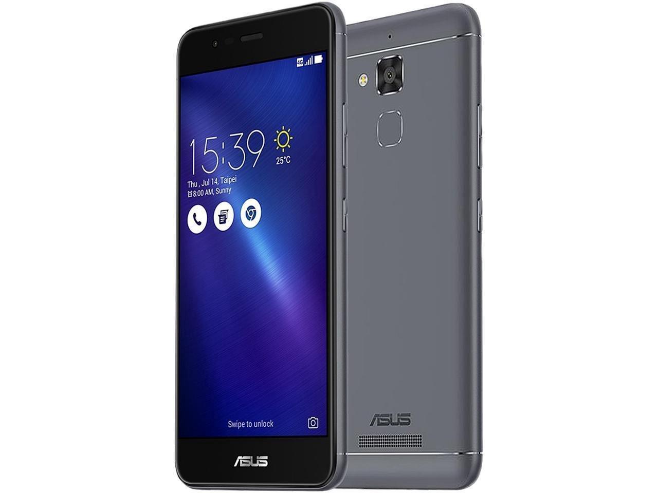 ASUS ZenFone 3 MAX ZC520TL Smartphone, 5.2-inch, 16GB (Titanium Gray) (Certified Refurbished)
