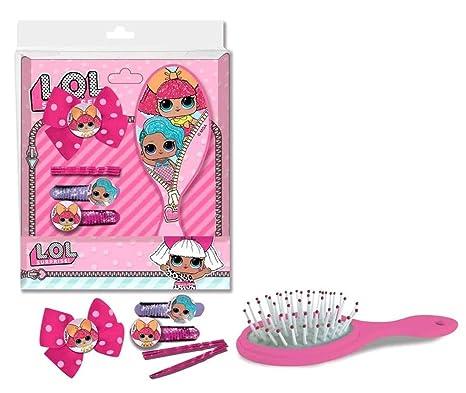 Set con secador cepillo + elásticos Ties y Barrettes para niñas