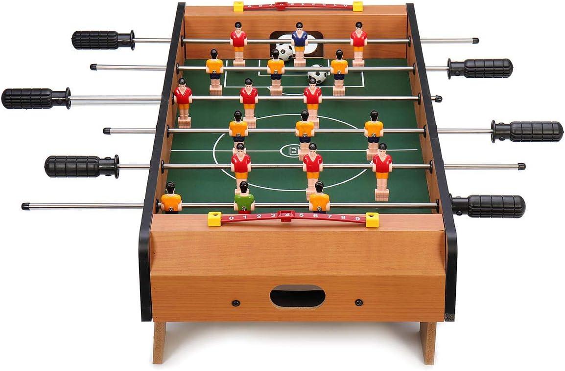 LAS Juego de Mesa de fútbol de 6 Varillas, 2 Jugadores de fútbol, competición, minijuego de Juguetes Deportivos, 2 Unidades: Amazon.es: Hogar