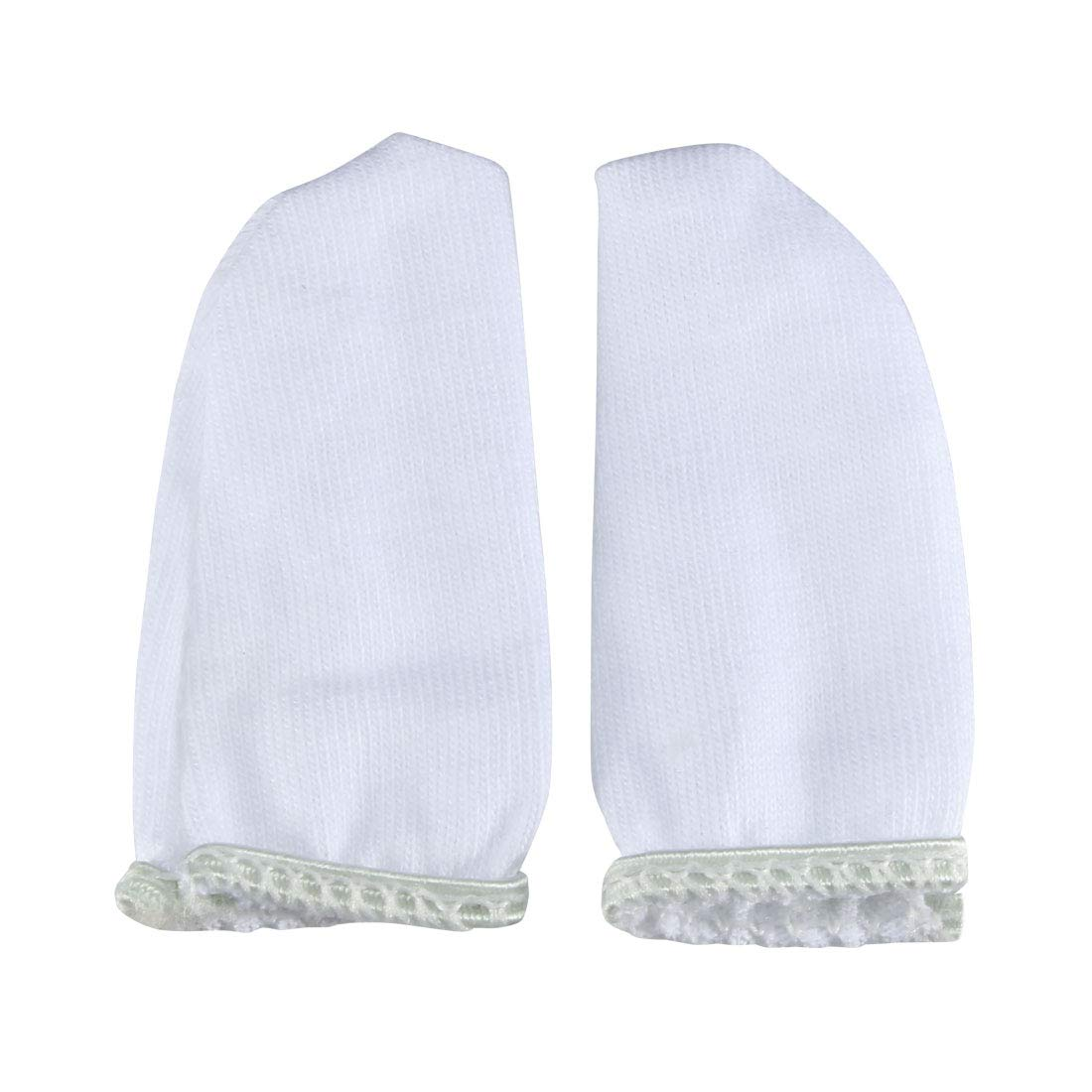 uxcell 420pcs 5.5cm-6cm Industry Working Tool Cotton Blends Finger Cots Sleeve White