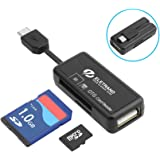 Micro USB OTG Kartenleser, Eletrand 2-Slot SD/Micro SD Kartenleser (Card Reader) und Micro USB OTG zu USB 2.0 Adapter mit Standard Micro USB Male Anschluss für Android Smartphones/Tablets mit OTG Funktion