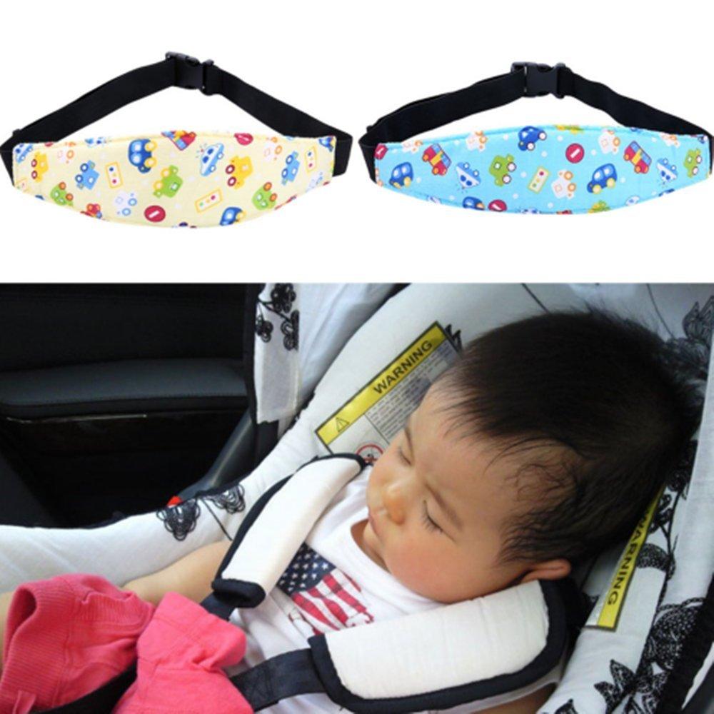 SmartRICH Soporte para el cuello y la cabeza para el asiento del coche, correa de seguridad para el cuello ajustable -Buho azul: Amazon.es: Coche y moto
