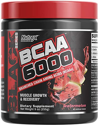 Nutrex Research BCAA 6000 6 Grams of Branched Chain Amino Acids 2 1 1 Ratio of L-Leucine, L-Isoleucine, L-Valine for Muscle Growth, Recovery