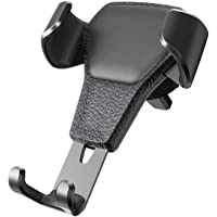 Adjustable Gravity Car Phone Holder - High Quality Universal Gravity Cell Phone Holder, Secure, Adjustable (size: up to 6.5inches), & Durable Grip Air Vent Mount Bracket Mobile Car Holder for all types of Smartphones in colour (Black)