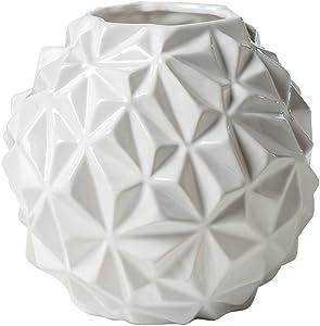 Torre & Tagus 902369B CRUMPLE Ball VASE Large-White
