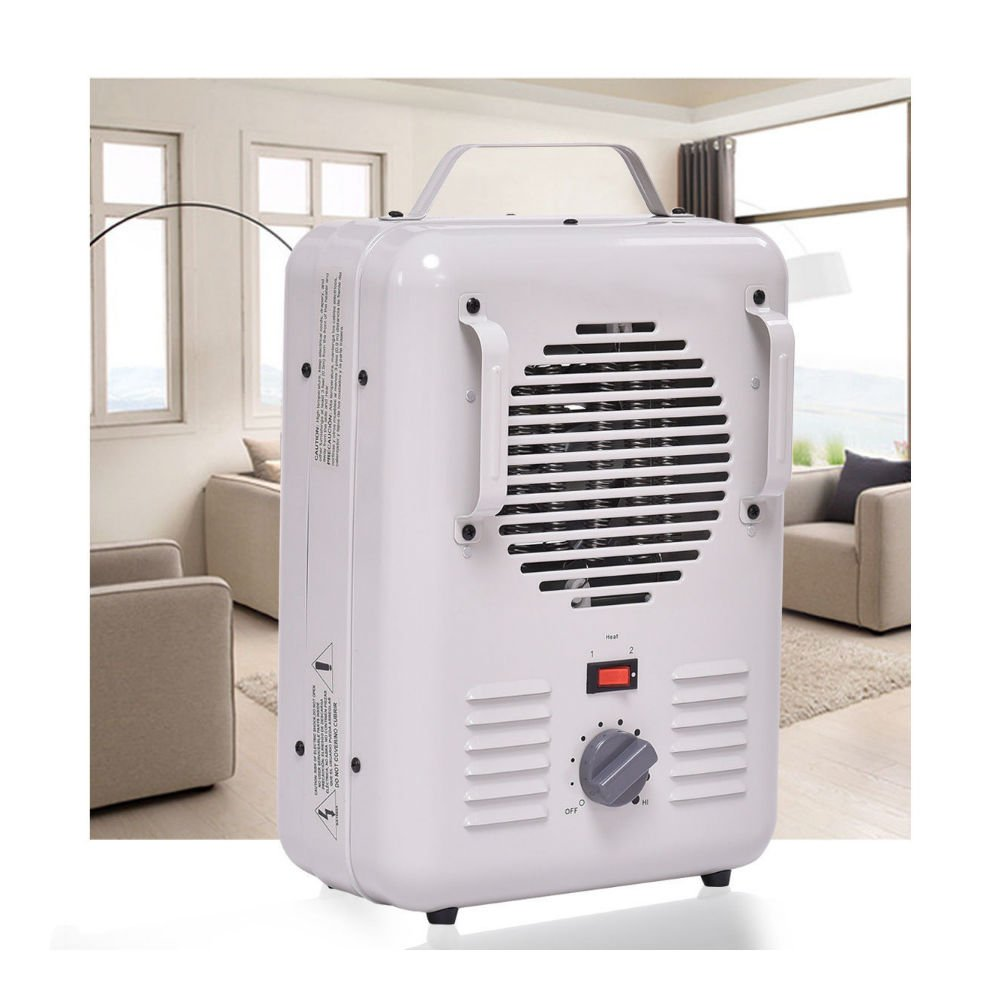 Electric Portable Utility Space Heater Thermostat Room 1500W Air Heating Wall