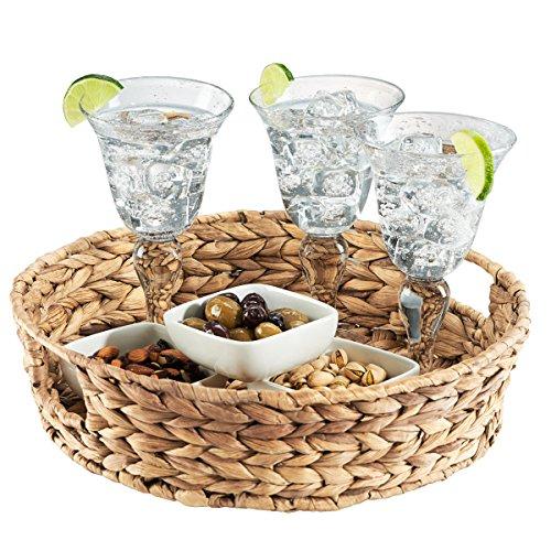 Basket Tray (Artland 60207A Garden Terrace Tray with Handles, Seagrass)