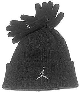 8ef76e04264 Nike Air Jordan Boys Winter Hat Beanie Cap Gloves Set Black Grey 8 20