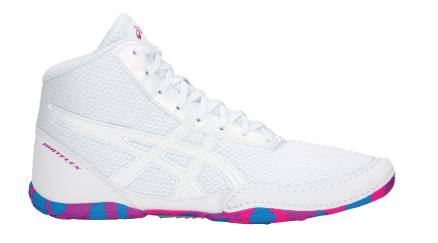 ASICS Matflex 5 Gs White/White/Multi Wrestling Shoes 4