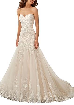 FNKSCRAFT Brautkleider Hochzeitskleid brautkleider Meerjungfrau ...