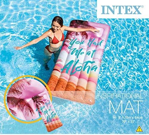 [スポンサー プロダクト]INTEX(インテックス) 浮き輪 フロート マット インスピレーショナルマット 178×84cm 58772 【柄指定不可】 [日本正規品]