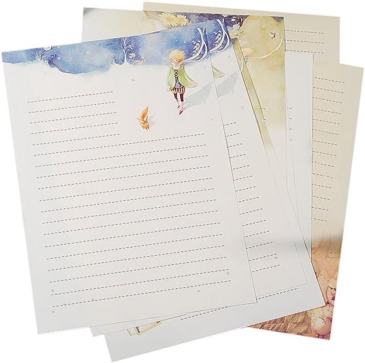 Zhi Jin Conte De Fées 40 Pcs Papeterie Papier à Lettre Prince Lettre Papiers Pad Ensemble De Cadeau Pour Une Bénédiction Carte De Vœux