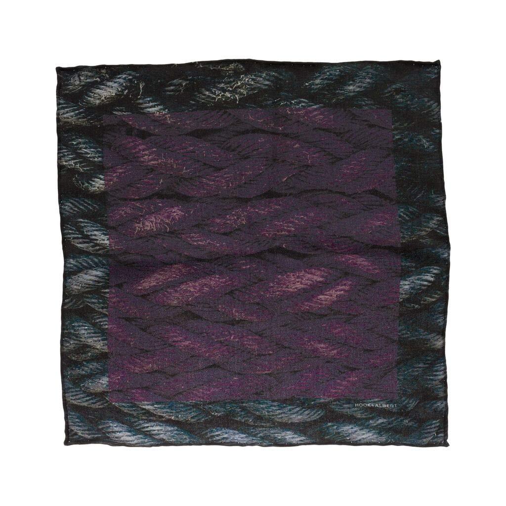 Hook & Albert Purple Silk Pocket Square