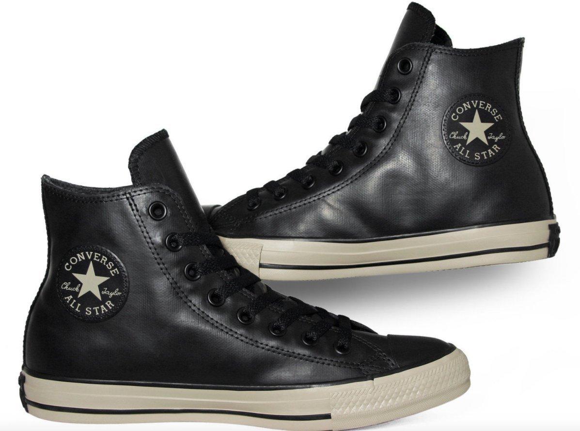 2430bc2e1f4a Converse Chuck Taylor All Star Rubber Hi Fashion Sneaker Shoe -  Black Black Papyrus - Mens - 7.5