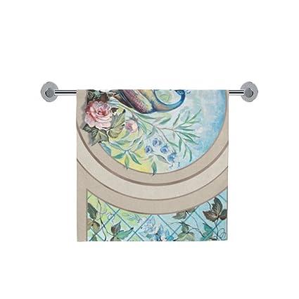 Amor naturaleza personalizado pavo real baño cuerpo ducha toalla de baño Wrap para el hogar al