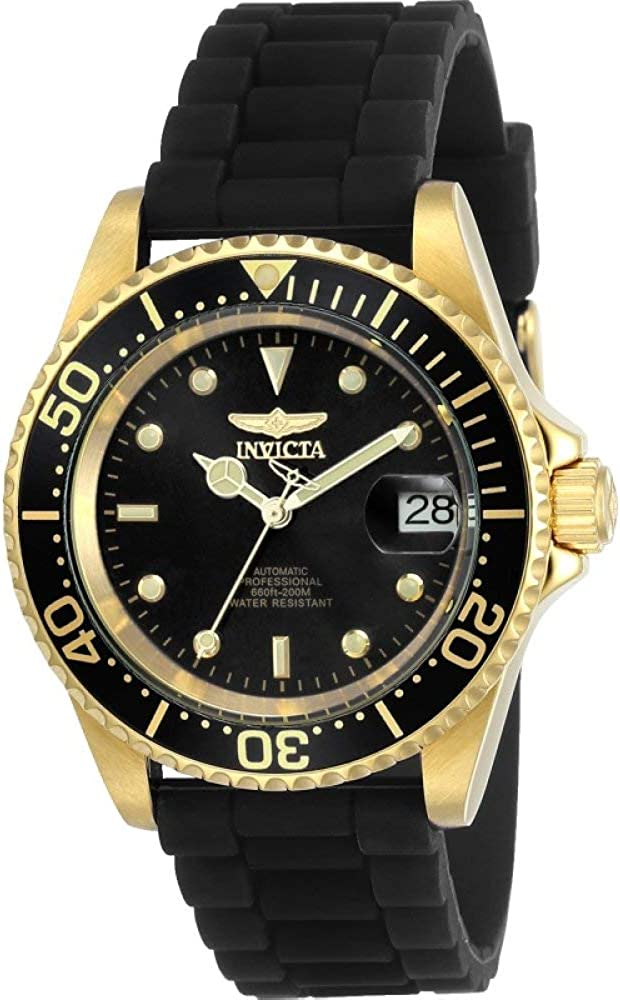 Invicta Men s Pro Diver Automatic-self-Wind Watch with Stainless-Steel Strap, Black, 19 Model 23681