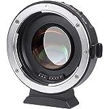 VILTROX EF-M2 Focal Réducteur Booster Adaptateur Objectif AF 0.71x pour Canon EF Monture Objectif à M43 Caméra