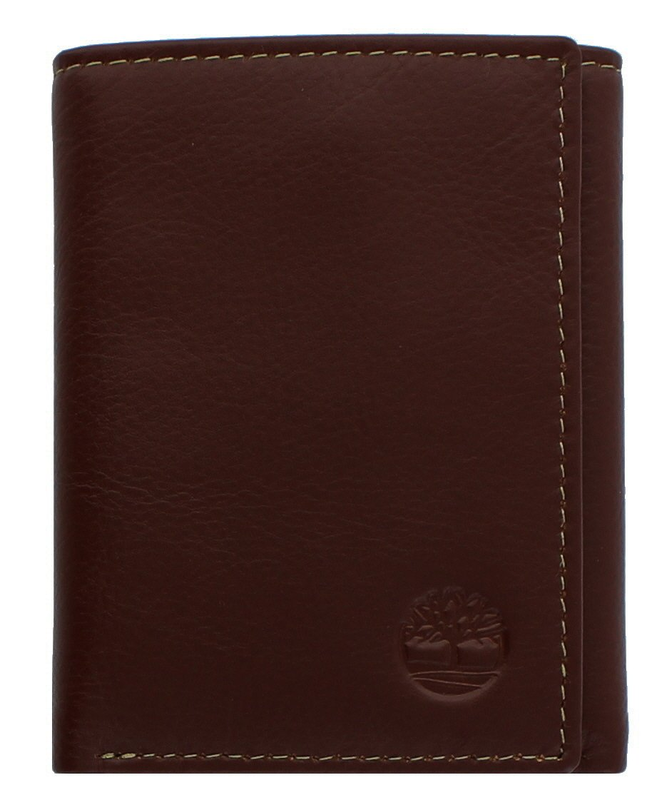 Timberland Men's Exclusive Blix Fine Leather Trifold Wallet (Brown)