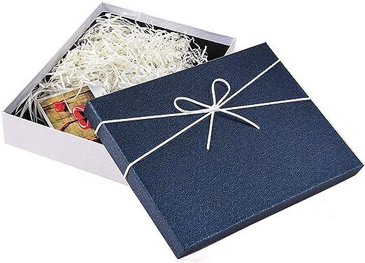 YIKEY-Caja de Regalo Caja de Regalo de Lazo Blanco, Caja de cartón ...