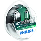 Philips X-tremeVision +100% H7 Scheinwerferlampe 12972XVS2, 2er-Set  [Für eine begrenzte Zeit werden einige Sendungen +130% sein (2 Glühbirnen)]