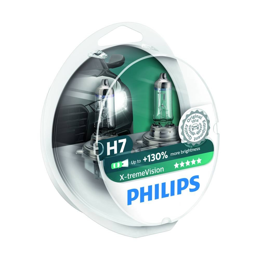 Philips 12972XVS2 Lot de 2 ampoules de phare X-treme Vision H7 +100% [Pour une durée limitée, le produit performant à +130% (2 bulbes)] le produit performant à +130% (2 bulbes)] AutoStyle 0730223