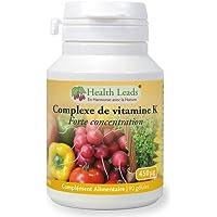 Complexe de vitamineK Forte concentration 450μg, Sans stéarate de magnésium, contribue au bon fonctionnement de la coagulation sanguine et à garder des os en bonne santé, Fabriqué au Pays de Galles