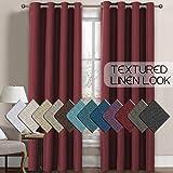 H.VERSAILTEX Linen Curtains Room Darkening Light Blocking Thermal Insulated Heavy Weight Textured Rich Linen Burlap…