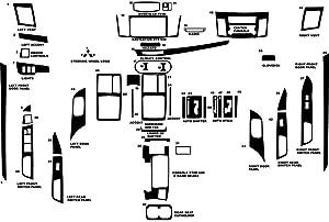 Rdash Dash Kit Decal Trim for Mitsubishi Lancer 2008-2015 - Carbon Fiber 4D (Red)