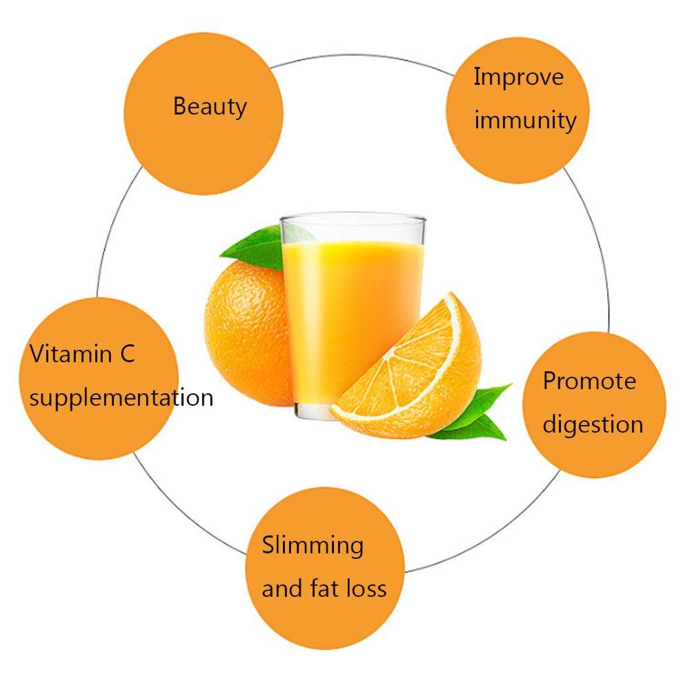 Exprimidor manual de limón, 2 en 1, sin BPA, para frutas, color naranja con taza de servir hecha de remolque de trigo biodegradable: Amazon.es: Hogar