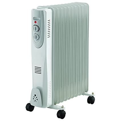 391aee580a1 11 Fin 2500W Portable Electric Oil Filled Radiator Electrical Caravan Heater   Amazon.co.uk  Kitchen   Home