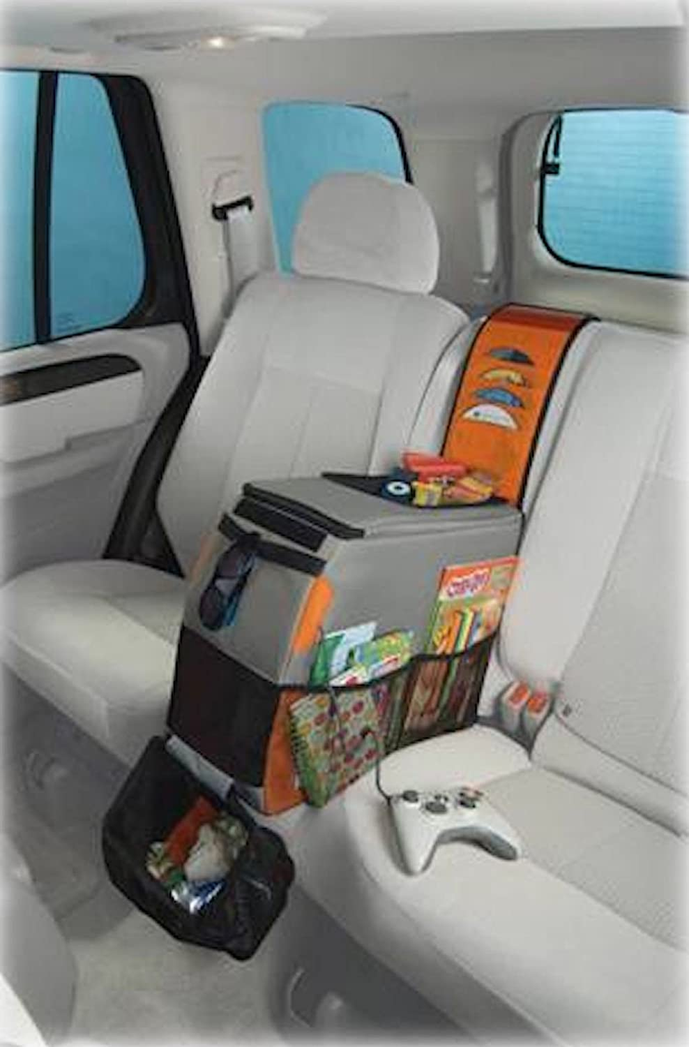 amazoncom highland 1950200 back seat activity center with detachable dvd storage and trash bag automotive