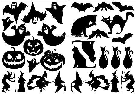 wukongsun Pieza Pegatina de Halloween Calabaza Bruja Murciélago ...