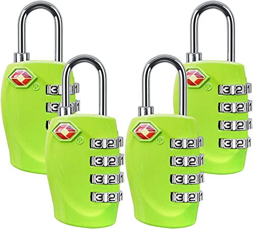 TSA Approved Luggage Lock Suitcase Travel Security Padlock 4 Dial Combination