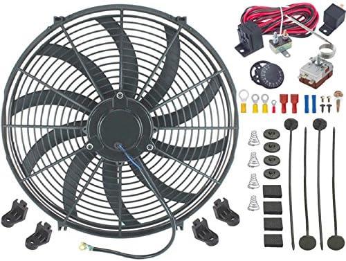 American V, 16 pulgadas Radiador eléctrico Condensador Ventilador ...
