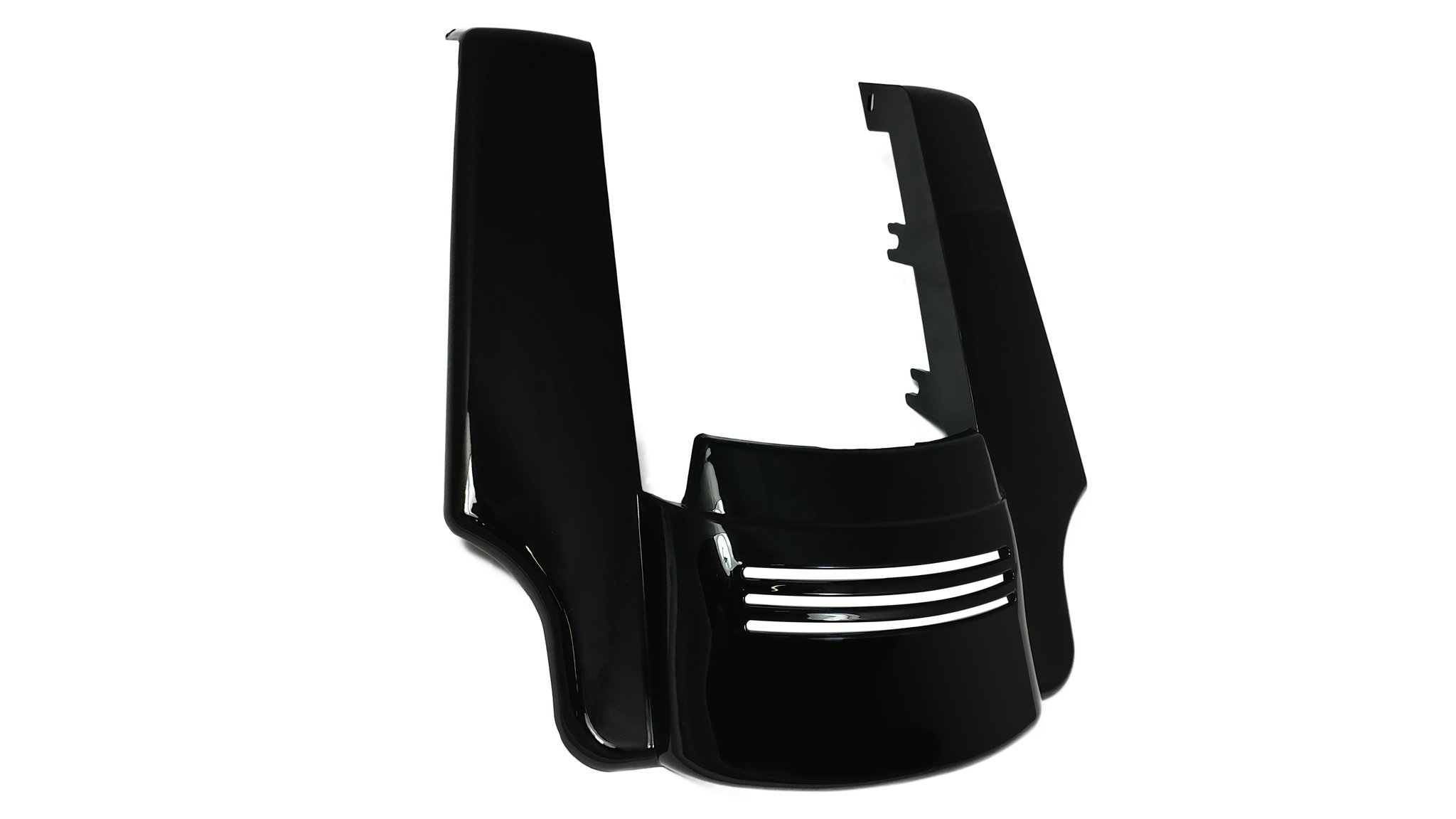 Bagger Brothers BB-HD1584-134 Black Fender Panel (Angled ABS Extension and Filler for 2014-2017 Harley-Davidson Touring Models)