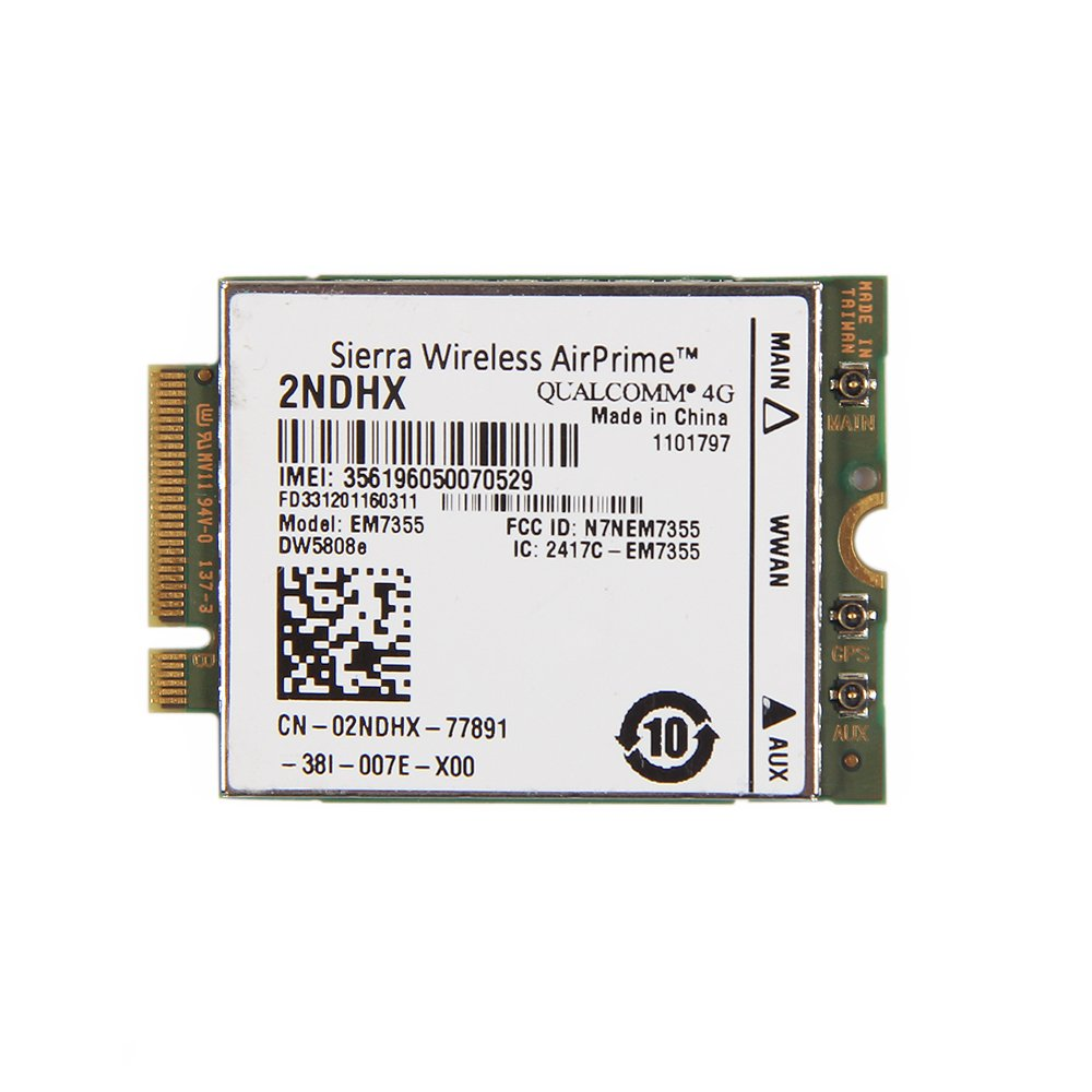 Sierra Wireless Airprime 2ndhx Em7355 Dw5808e Wwan Hspa Ngff Card for Dell kindofsmile BC21630