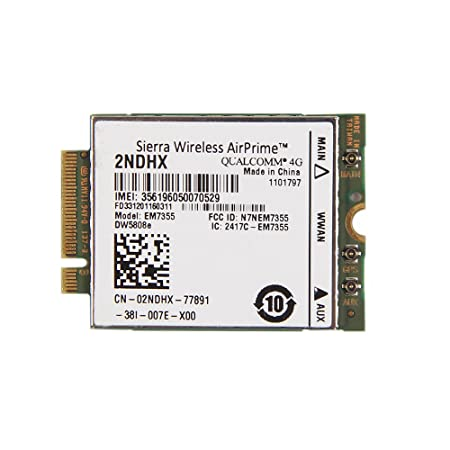 Huasijie Dell EM7355 Sierra GOBI5000 3G/4G LTE Module NGFF for Venue11 Pro 7130 Wwan Card 2NDHX Components at amazon