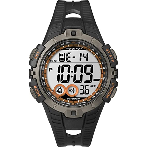 c12befaa10d9 Timex Unisex Digital Watch with LCD Dial Digital Display and Black Resin  Strap T5K801  Timex  Amazon.co.uk  Watches