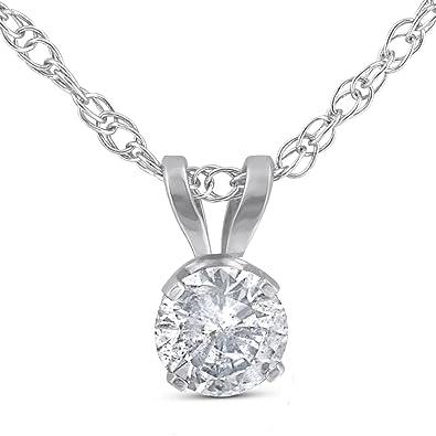 Amazon 13ct round solitaire white gold diamond pendant 13ct round solitaire white gold diamond pendant aloadofball Gallery