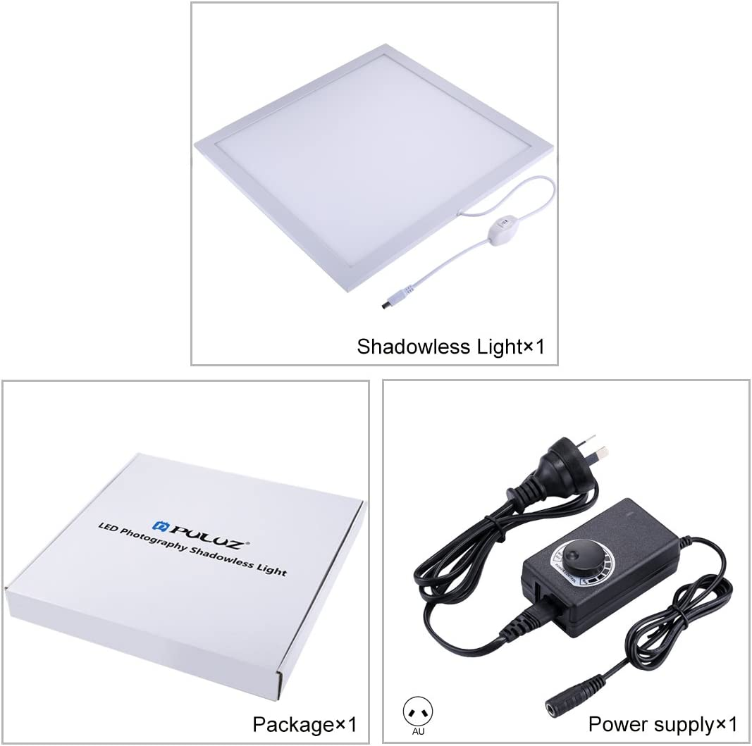 Acrylic Material 34.7cm x 34.7cm Effective Area Durable No Polar Dimming Light 1200LM LED Photography Shadowless Light Lamp Panel Pad with Switch Color : Color2