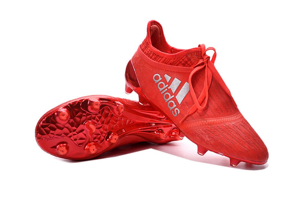 Lissay Shoes Mens X 16 Purechaos FGAG Football Soccer Red Boots