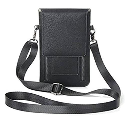 4897c91007 YaJaMa Small Women Leather Shoulder Crossbody Bag Travel Camping Handbag  Purse Credit Card Wallet(Black. Roll over image to zoom in