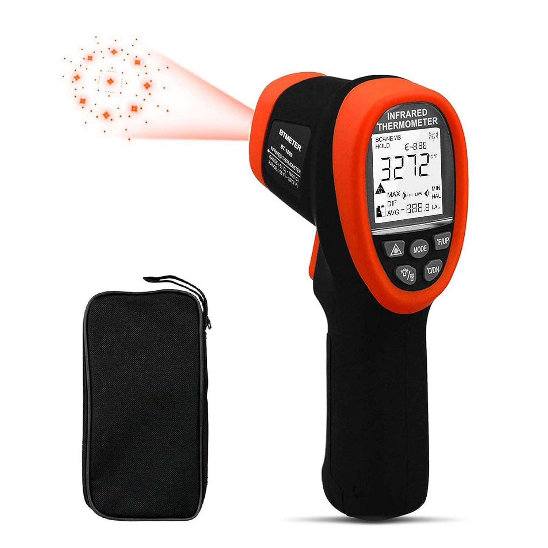 Termómetro Industrial Digital BT-1800 Pistola de Alta Temperatura -50℃~1800℃ / -58°F~3272°F D:S=50:1 Termómetro de Mano Sin Contacto Pirómetro con Luz de Fondo ℃/°F