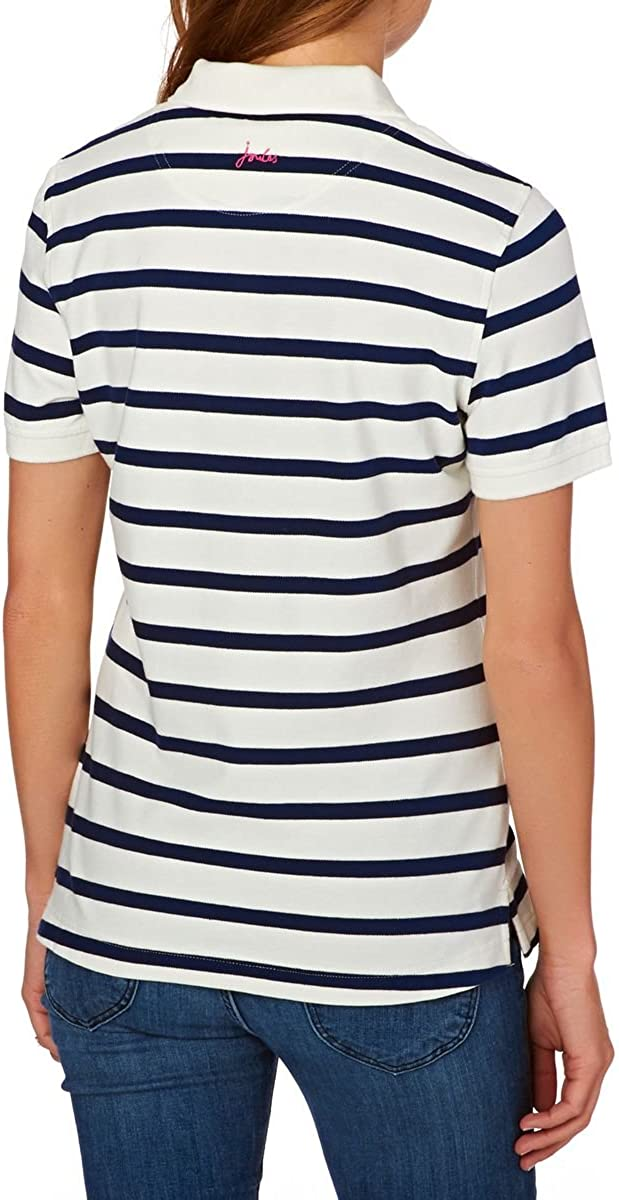 Joules Womens//Ladies Trinity Soft Cotton Print Patterned Slim Fit Polo Shirt
