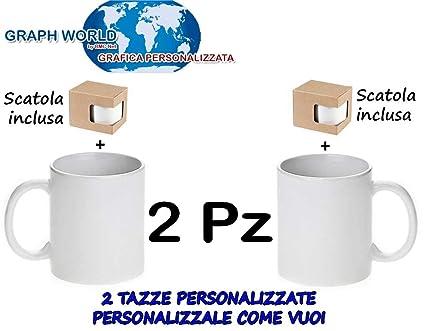 Graph World 2 Tazze Personalizzate Con Foto Immagine Frase Logo