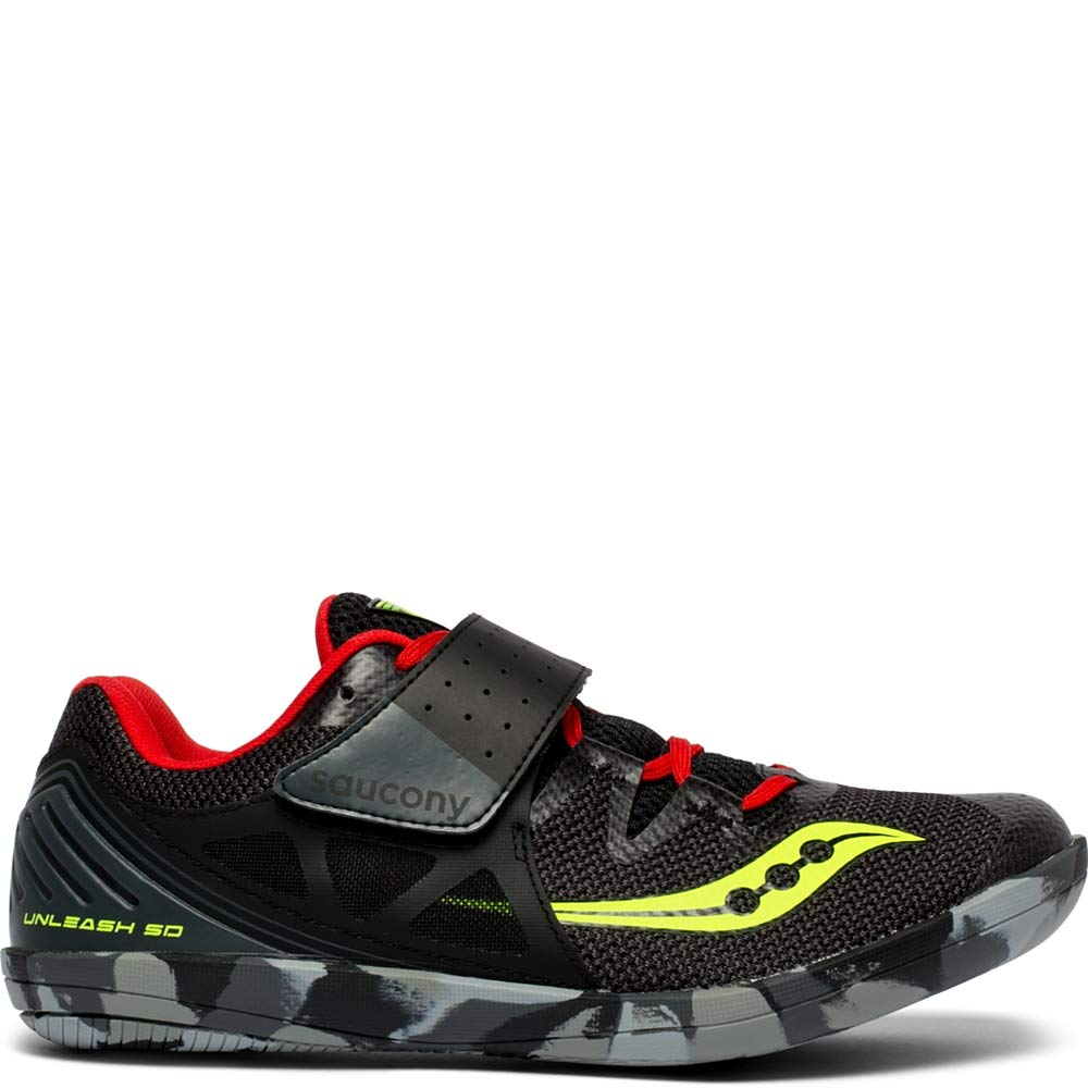 Saucony Men's Unleash SD2 Track and Field Shoe Black/red 9 by Saucony