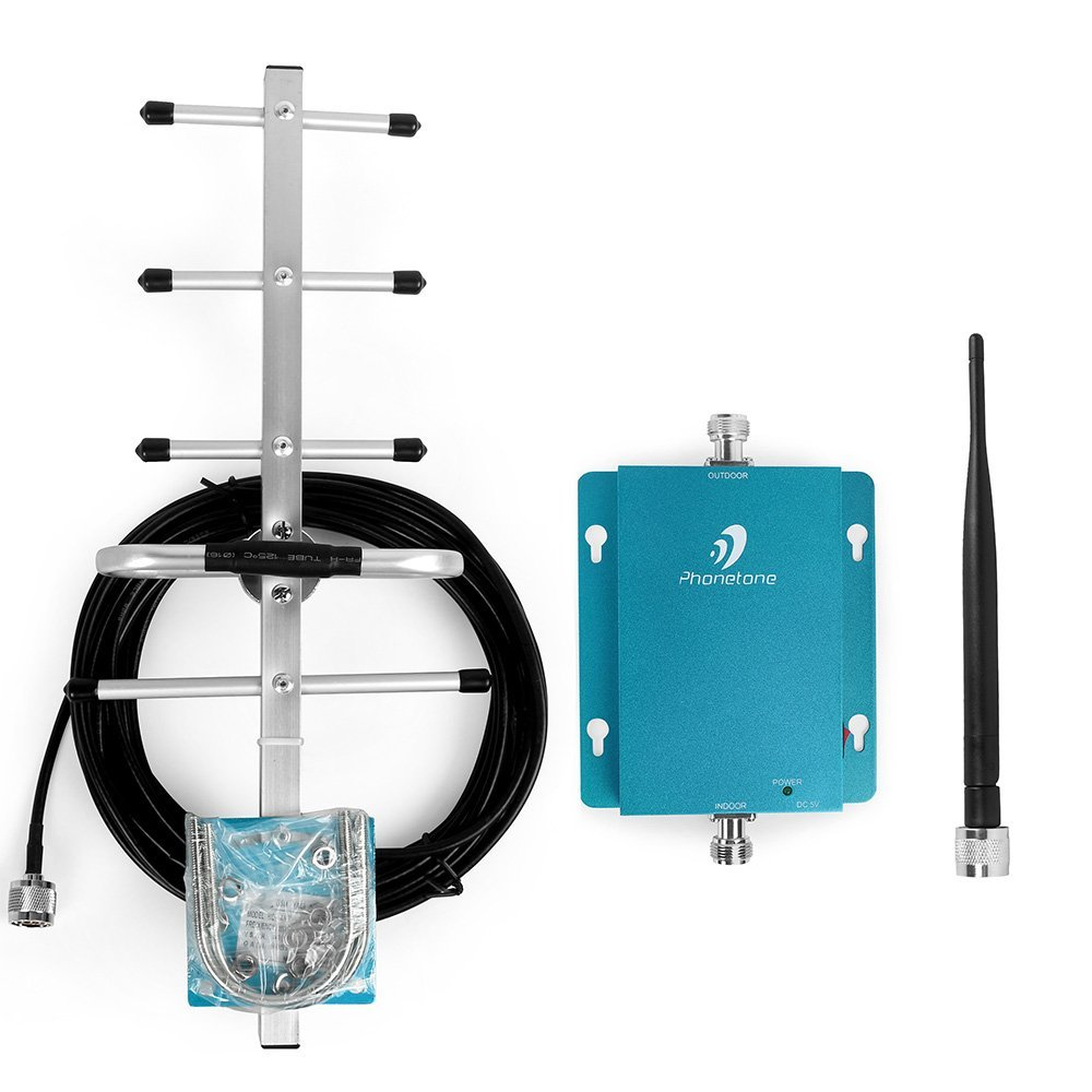 Cell Phone Signal Booster Home Office Use - 62dB 850MHz Band 5 Mobile Repeater Yagi Antenna - Boost Voice 3G Data