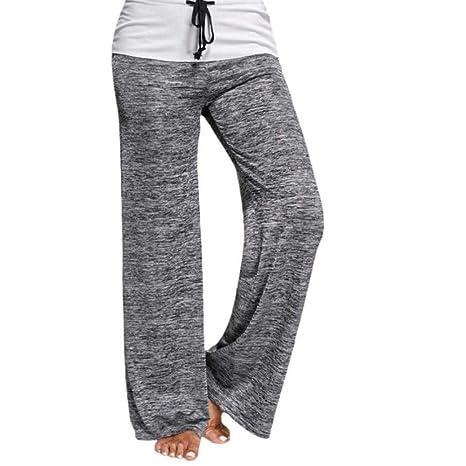 Kai&Guo Pantalones Sueltos de Yoga Ejecución de Pierna Ancha ...